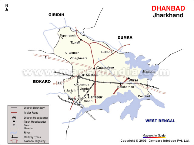 Jharkhand Tourism DhanbadThe Coal Capital Of India Travel - Dhanbad map